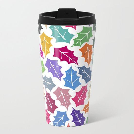 Colorful leaves II Metal Travel Mug