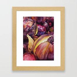 Peeling Flora Framed Art Print