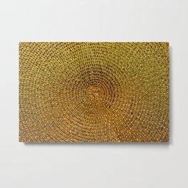Gold Rafia Metal Print