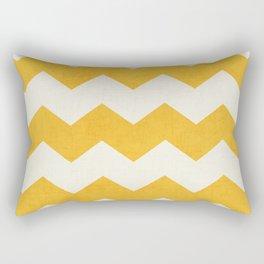 chevron - yellow Rectangular Pillow