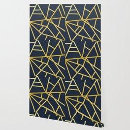 Copper and Midnight Navy  #society6 #decor #buyart #artprint Wallpaper