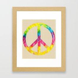 Tie-Dye Peace Sign Framed Art Print