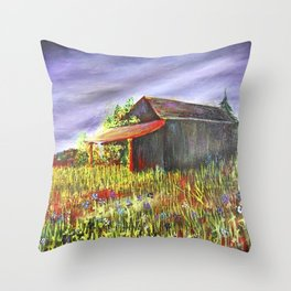 peace and poppies Throw Pillow