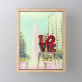 Philadelphia Love Framed Mini Art Print