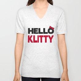 Hello Klitty Unisex V-Neck