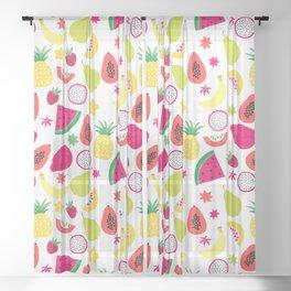 Tutti Frutti Summer Fruit Pattern Sheer Curtain