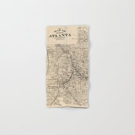 1906 Map of Atlanta, GA Hand & Bath Towel