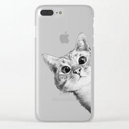sneaky cat Clear iPhone Case