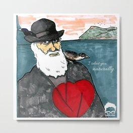 A Darwinian Heart Metal Print