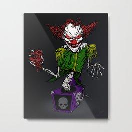 Evil Jack 'n' the Box Metal Print