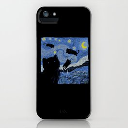 The Starry Cat Night iPhone Case