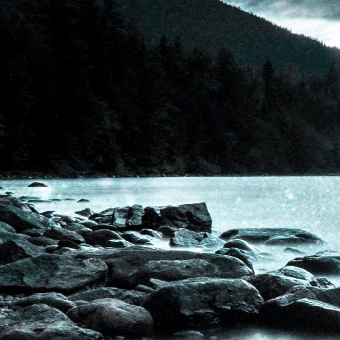 Magical Mountain Lake Teal Ice Leggings