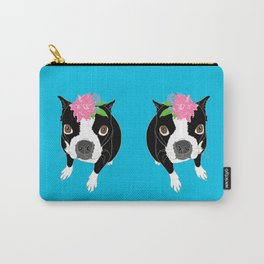 Boston Terrier Illustrated Print Carry-All Pouch