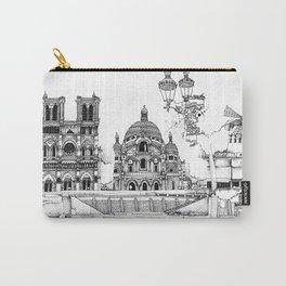 Quai de Seine - Eiffel Tower, Sacre-Coeur, MoulinRouge & Lamp post, Paris Carry-All Pouch