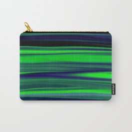Beautiful Ocean Wave Green Stripes Carry-All Pouch