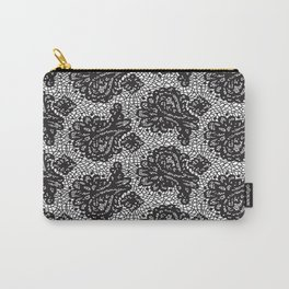 Lace in black Carry-All Pouch