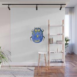 Blue and yellow insect | Entomology shirt Wall Mural