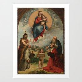 """Raffaello Sanzio da Urbino """"Madonna of Foligno"""", 1512 Art Print"""