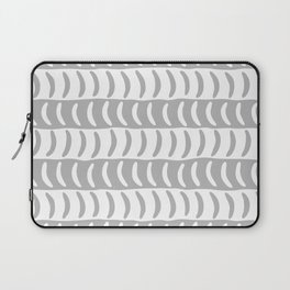 Wavy Stripes Gray 2 Laptop Sleeve