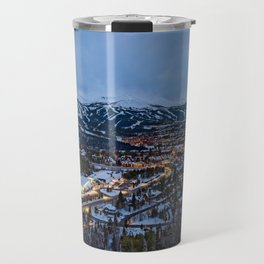 BRECKENRIDGE COLORADO WINTER NIGHT SKI TOWN CITY PHOTOGRAPHY Travel Mug