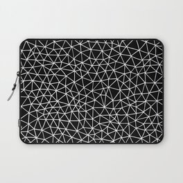 Connectivity - White on Black Laptop Sleeve
