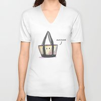 totes V-neck T-shirts featuring Totes Awesome! by artofjeffp