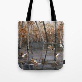 Winter Mallards Tote Bag