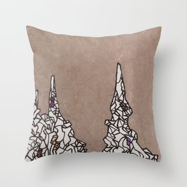 Crumble Towers Throw Pillow