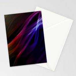 Colors of the rainbow - smoke abstract Stationery Cards