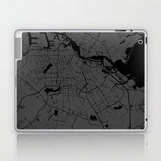 Amsterdam Gray on Black Street Map Laptop & iPad Skin
