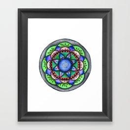 Raimbow Flower Mandala Framed Art Print