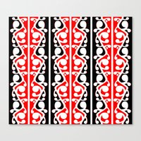 maori Canvas Prints featuring  Maori Kowhaiwhai Traditional Pattern  by mailboxdisco