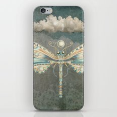 Dragonfly of the moon iPhone Skin