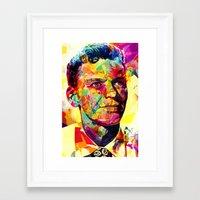 frank sinatra Framed Art Prints featuring Sinatra by Alessandro Pautasso