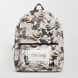 Cat lady Backpack