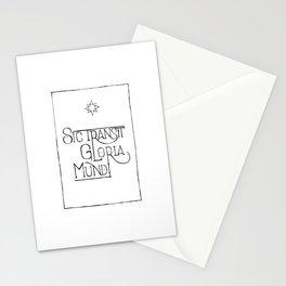 Sic Transit Gloria Mundi Stationery Cards