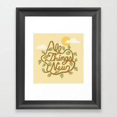 All Things New (version 1) Framed Art Print