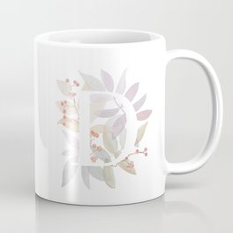 Floral Initial D - Rustic Watercolor Letter - Typography - Wreath Design Coffee Mug