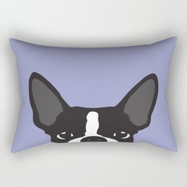 Boston Terrier Violet Rectangular Pillow