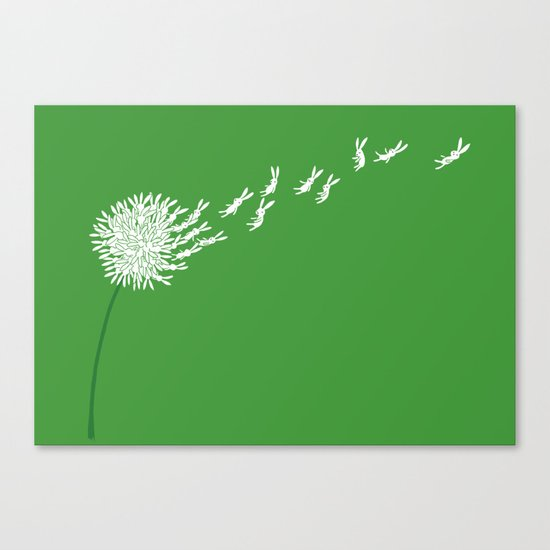 Escape from the dandeLION Canvas Print