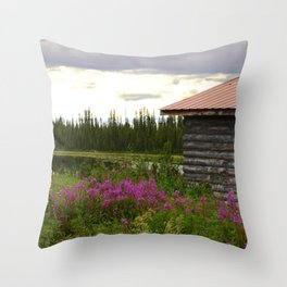 Pioneer Cabin II - Alaska Throw Pillow