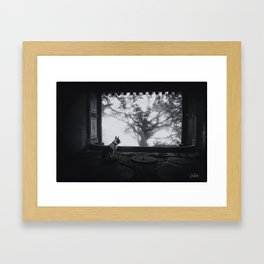 Holly and the Tree Framed Art Print
