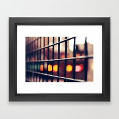 Circles and squares Framed Art Print