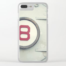 Number 8 Clear iPhone Case