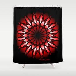 Burnt Umber Wonder Mandala Shower Curtain