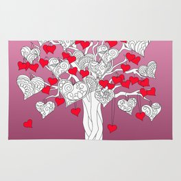 tree of love with hearts Rug