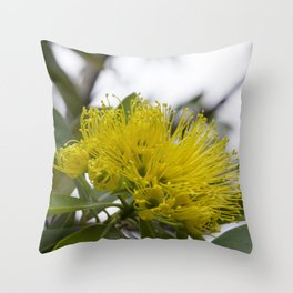 Golden Penda Throw Pillow