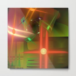 Abstract lighteffects -17- Metal Print