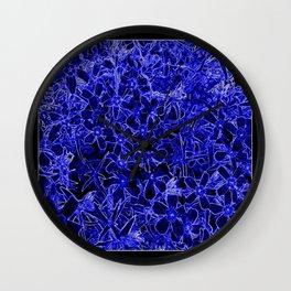 Flower | Flowers | Royal Blue Flox on Black Wall Clock