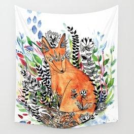 Tatoo fox Wall Tapestry